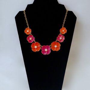 KATE SPADE~flutter floral~NECKLACE~Pink/Coral